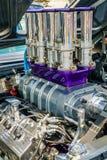 Détails de moteur d'une voiture américaine de muscle photos libres de droits