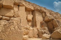 Détails de mur de vieille pyramide égyptienne Photographie stock libre de droits