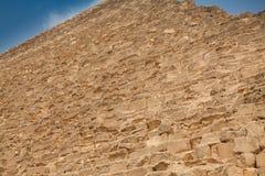 Détails de mur de vieille pyramide égyptienne Image stock