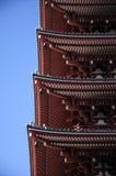 Détails de pagoda Photo libre de droits