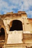 Détails de passage arqué, le Colosseum Images stock