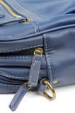 Détails de sac bleu Photographie stock libre de droits