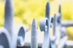 Détails de structure et d'ornements de barrière et de gat de fer travaillé photo stock