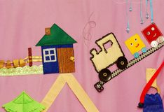 Détails de tapis créatif mou pour le développement de l'enfant images libres de droits