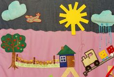 Détails de tapis créatif mou pour le développement de l'enfant photographie stock libre de droits