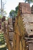 Détails de temple de Banteay Srei Images stock