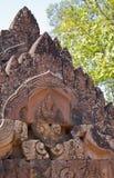 Détails de temple de Banteay Srei Photographie stock