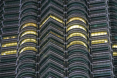 Détails de Tour jumelle de Petronas, Kuala Lumpur, Malaisie Photos libres de droits