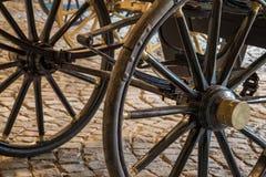 Détails de vieilles roues de chariot de vintage Photographie stock libre de droits