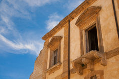 Détails de vieux balcon Images libres de droits