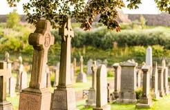 Détails de vieux cimetière gothique, Ecosse photos libres de droits