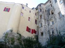 Détails des bâtiments résidentiels dans Sauve france Photographie stock