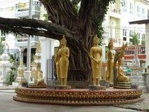 Détails des beaux-arts au temple bouddhiste Photo libre de droits
