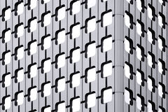 Détails des hublots d'un gratte-ciel Image stock