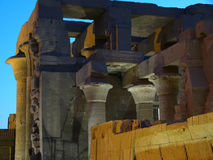 Détails des ruines égyptiennes Images libres de droits