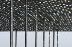 Détails de toit en acier moderne Images stock