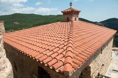 Détails du monastère saint de Varlaam Photo stock
