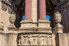 Détails du palais des beaux-arts Image stock
