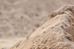 Détails du sable au sol pour la construction Photo stock