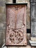 Détails du St Stephens Cathedral à Vienne images stock