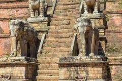 Détails du temple de Nyatapola dans Bhaktapur photographie stock