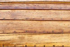 Détails en bois de bateau Images libres de droits
