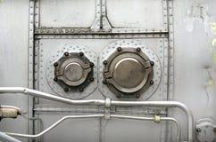 Détails en gros plan des aéronefs de turbine Photo stock
