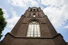 Détails en gros plan sur la façade de l'église, d'une église catholique construites dans le style architectural baroque et Flaman Photo libre de droits