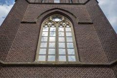 Détails en gros plan sur la façade de l'église, d'une église catholique construites dans le style architectural baroque et Flaman Photographie stock libre de droits