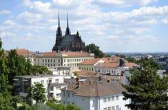 Détails et architecture de Brno Image stock