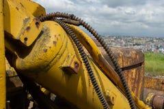 Détails et mécanismes L'urbanisation marche autour de la planète image libre de droits