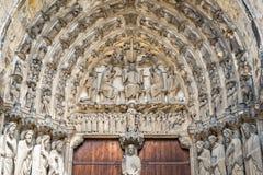 Détails extérieurs de cathédrale de Chartres Photo stock