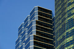 Détails financiers du centre d'architecture de secteur de Miami Images libres de droits