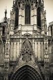 Détails gothiques sur une cathédrale catholique Photographie stock
