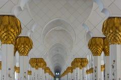 Détails grands de mosquée d'Abou Dabi photographie stock libre de droits
