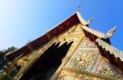 Détails historiques thaïlandais de temple Images libres de droits