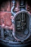 Détails industriels d'installation de terrain de Necromunda photographie stock libre de droits