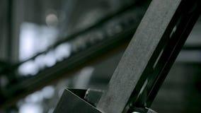 Détails industriels de convoyeur banque de vidéos