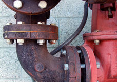 Détails industriels de pipe image libre de droits