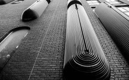 Détails intéressants du bâtiment moderne Image libre de droits