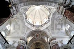 Détails intérieurs d'église de jésuite à Innsbruck Image stock