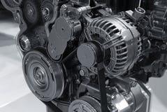Détails modernes d'engine de pouvoir de véhicule Photographie stock libre de droits