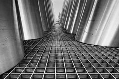 Détails noirs et blancs d'architecture Image stock