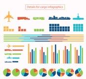 Détails pour la cargaison infographic Image stock