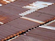 Détails rouillés de toit Photos libres de droits