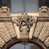 Détails sculpturaux du bâtiment du Burg de Neue à Vienne photographie stock libre de droits