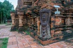 Détails sur un temple à mon sanctuaire de fils, Vietnam Photographie stock libre de droits