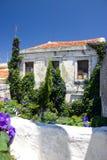 Détails Windows de bâtiments historiques d'architecture de Rhodos Grèce Image libre de droits