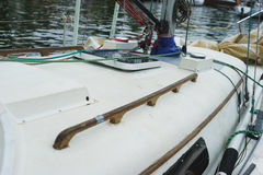 Détails yacht, voiles et plan rapproché de vitesse image libre de droits