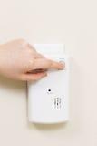 Détecteur à la maison d'alarme pour le gaz d'oxyde de carbone images libres de droits